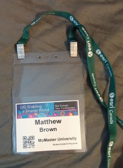 Esri User Conference, Toronto - My Badge