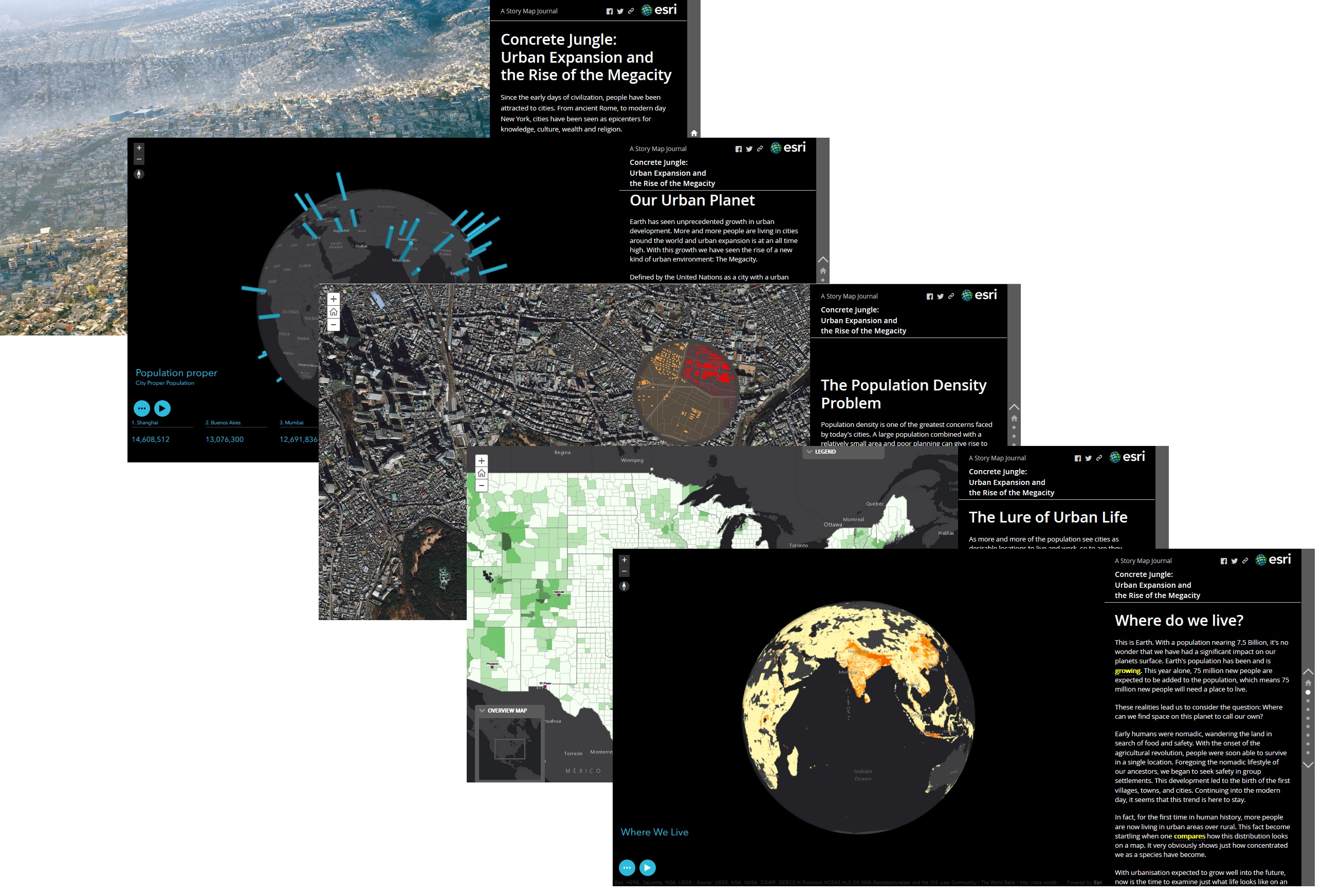 A selection of slides from the Story Map Journal i have entered into Esri's Global Content Challenge