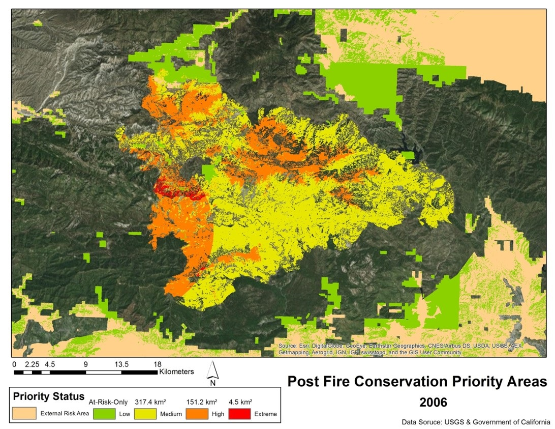 Post Fire Conservation Priority Areas