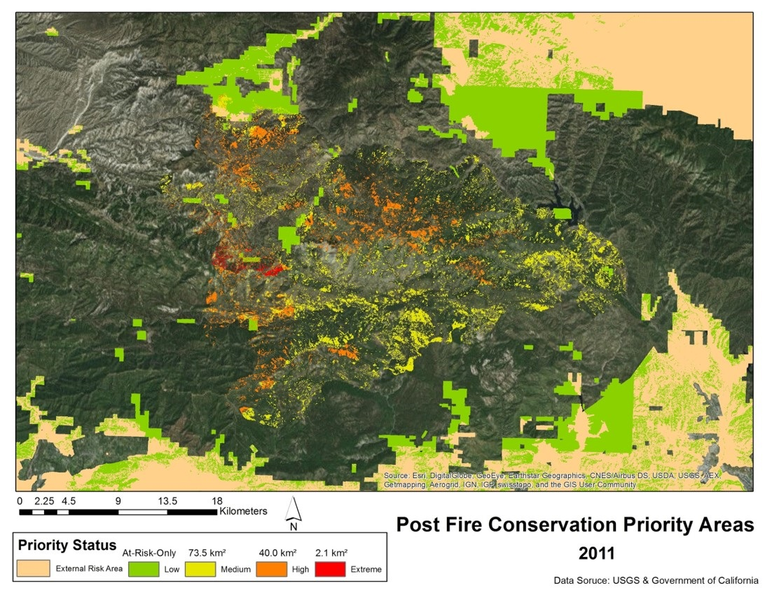Post Fire Conservation Priority Areas 2011