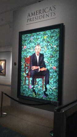 Barack Obama Portrait from Smithsonian National Portrait Gallery