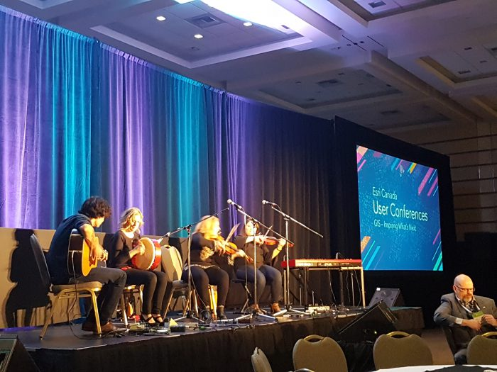 The entertainment at the Esri Canada UC Fredericton 2018