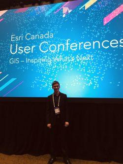 Myself at the Esri Canada UC Fredericton 2018.