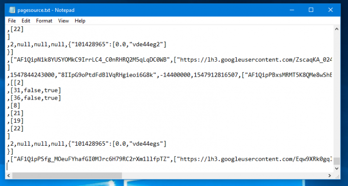 Resulting .txt file.